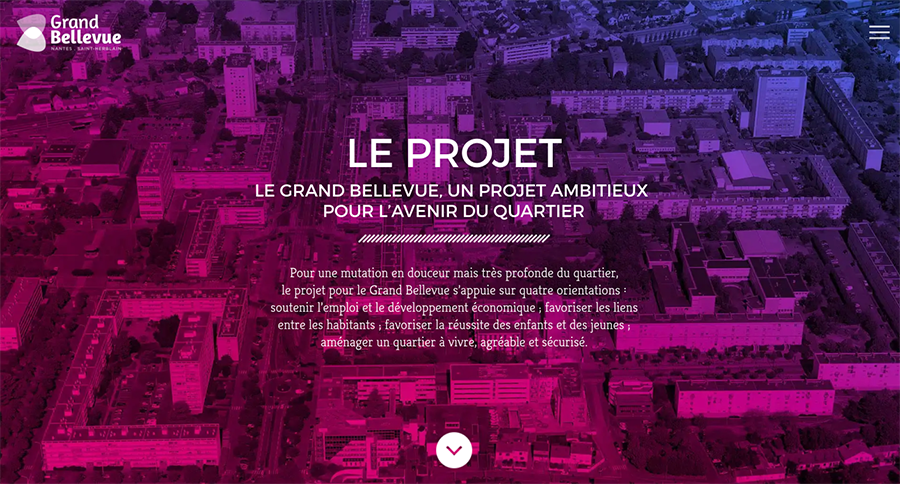 projet Grand Bellevue quartier de Nantes